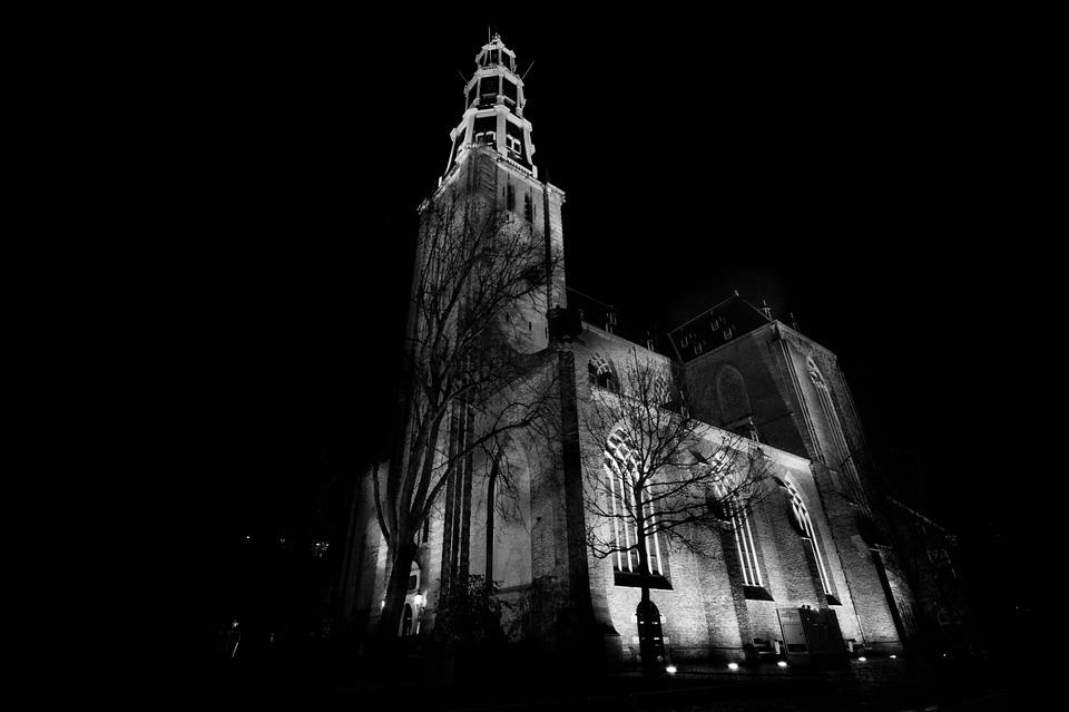 groningen, church, black