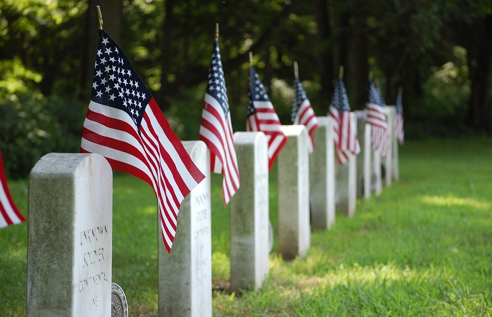 graves, flag, united states