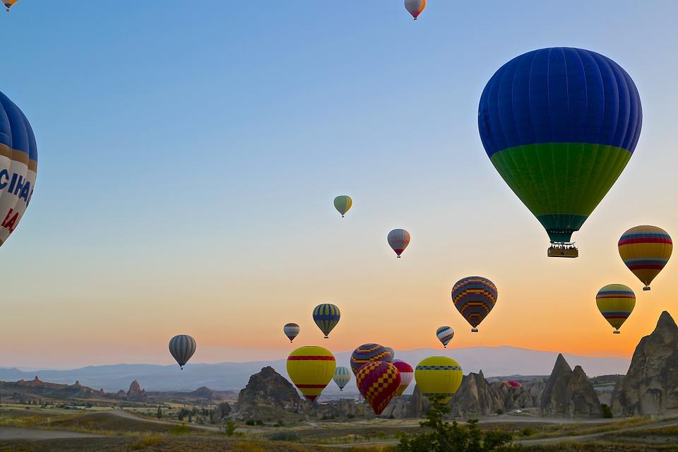cappadocia, turkey, balloons