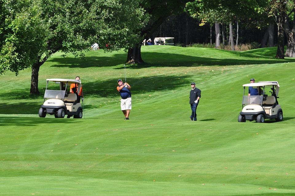 golf, golf carts, golfer