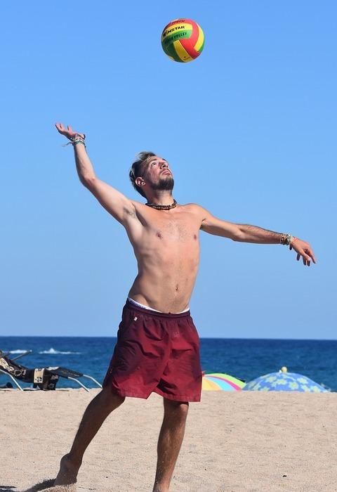 volleyball, man, sports