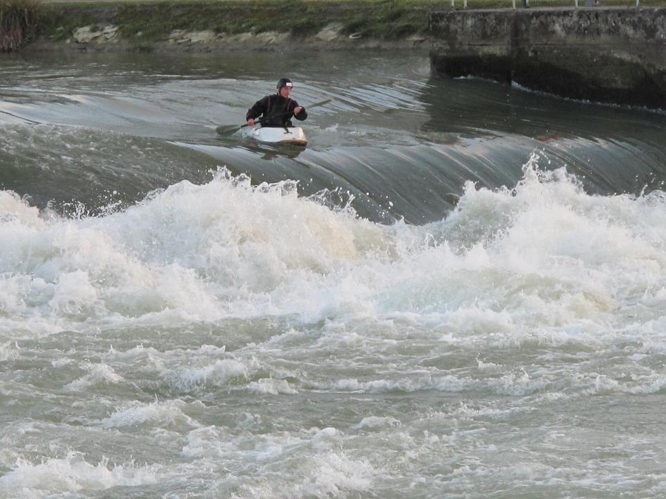 kayaking, kayakers, sport