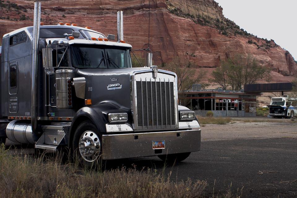 big truck, tractor trailer, industry