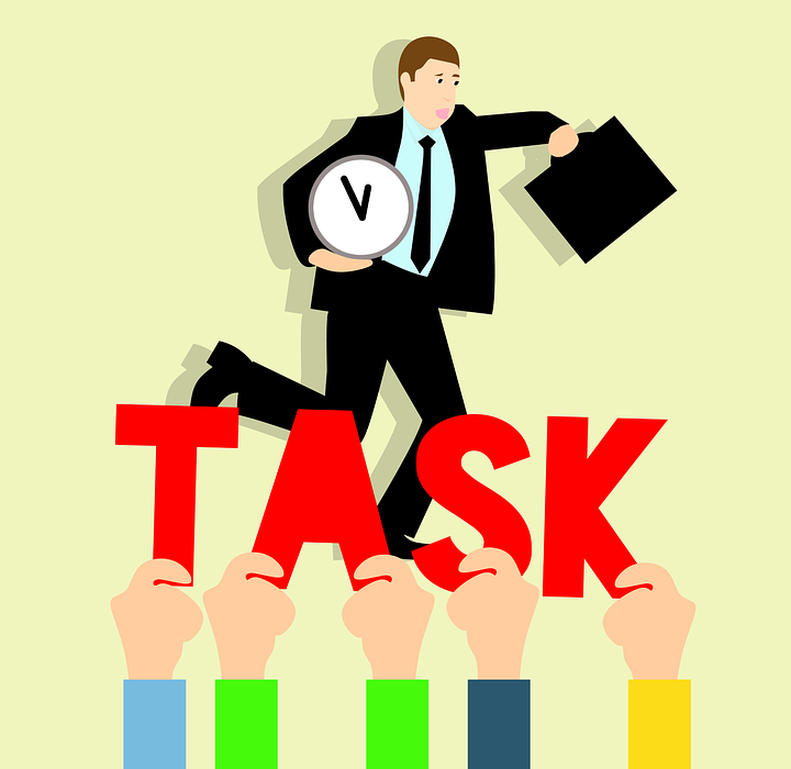 business tasks, hurry up to work, idea