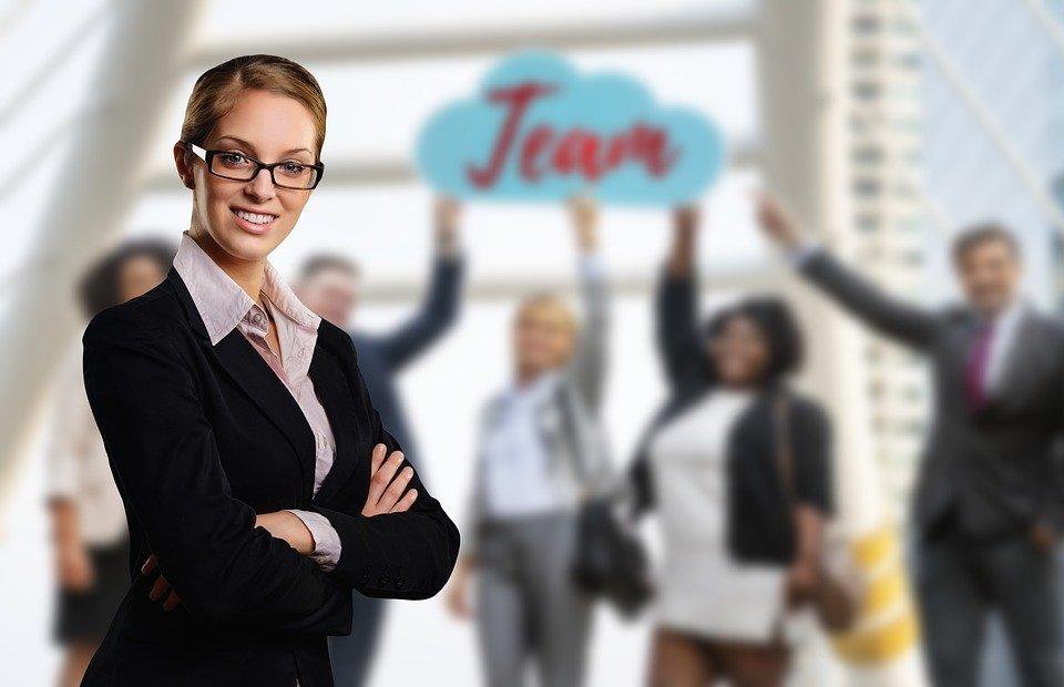 team, businesswoman, business