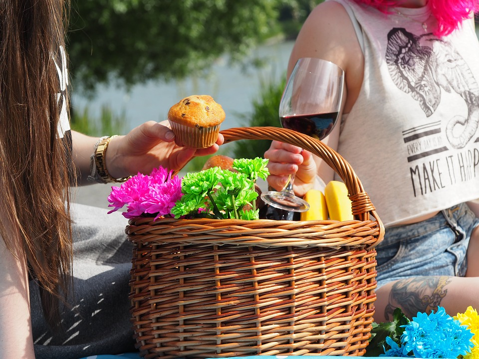 picnic, basket, colors