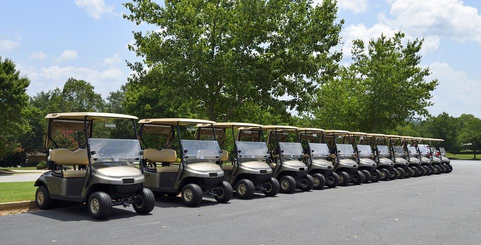 golf, golf cart, course