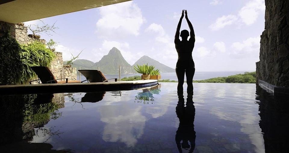 yoga, sport, person