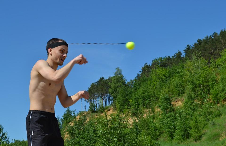 fireball, ball on an elastic band, fight bol