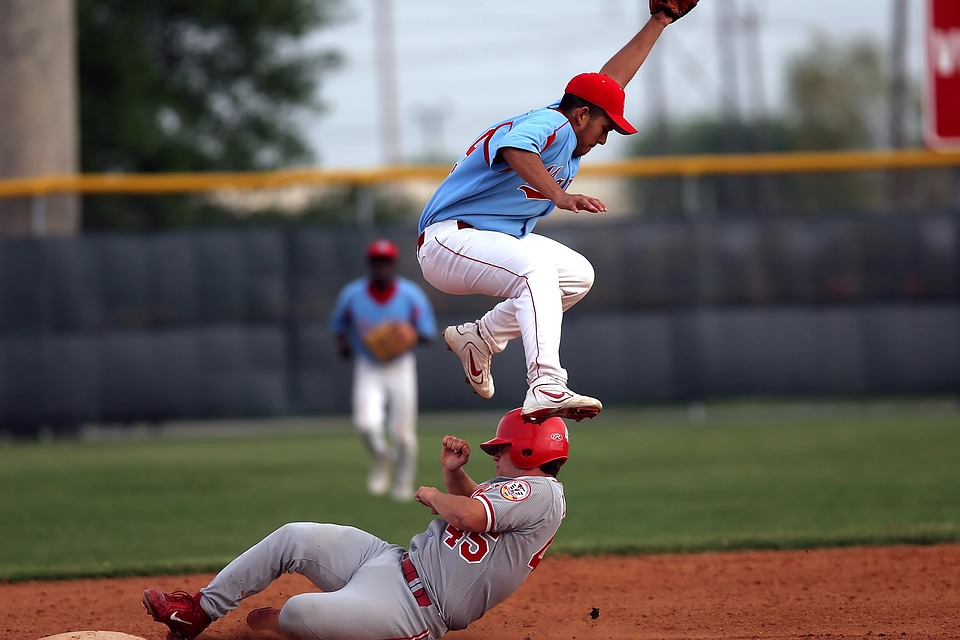 baseball, baseball player, slide