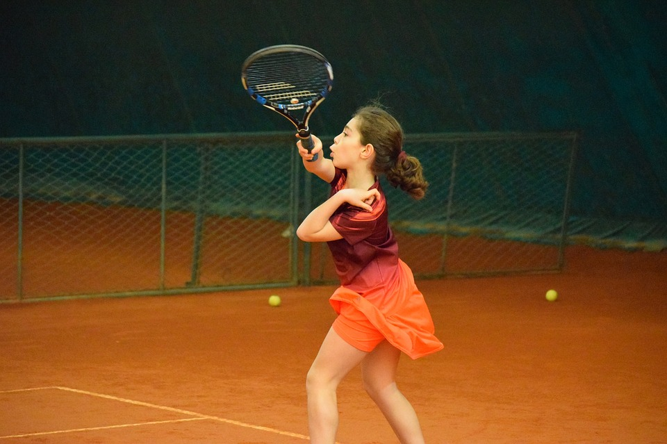 tennis, girl, sport