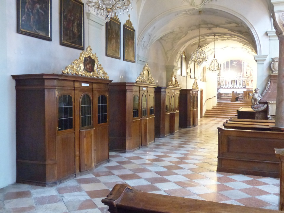 confessional, confession, catholic church