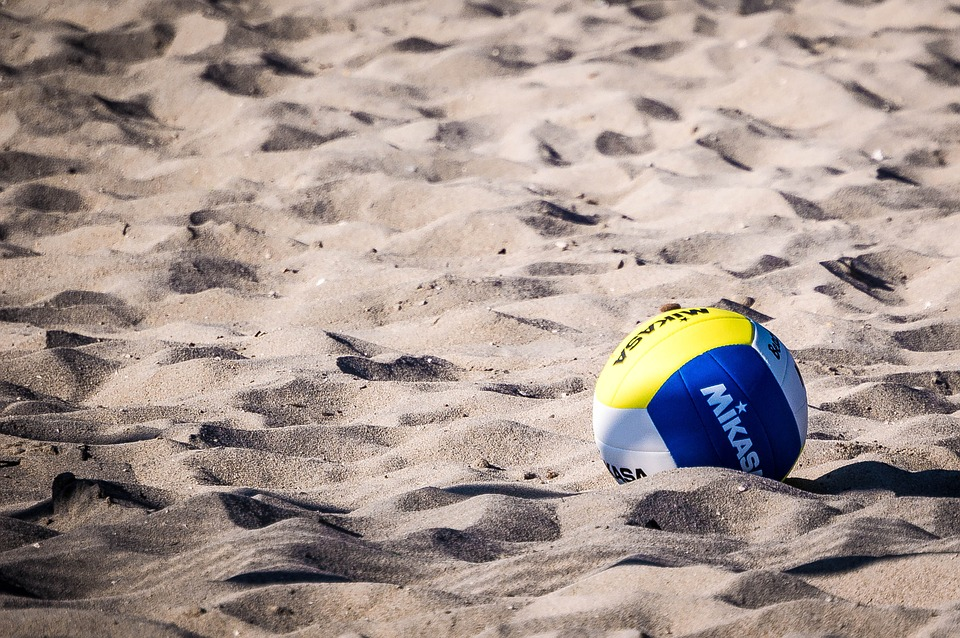 volleyball, ball, beach