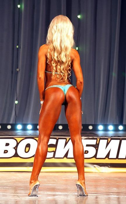 sports, athletic girl, fitnesbikini