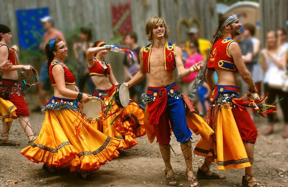 dancers, gypsy, active
