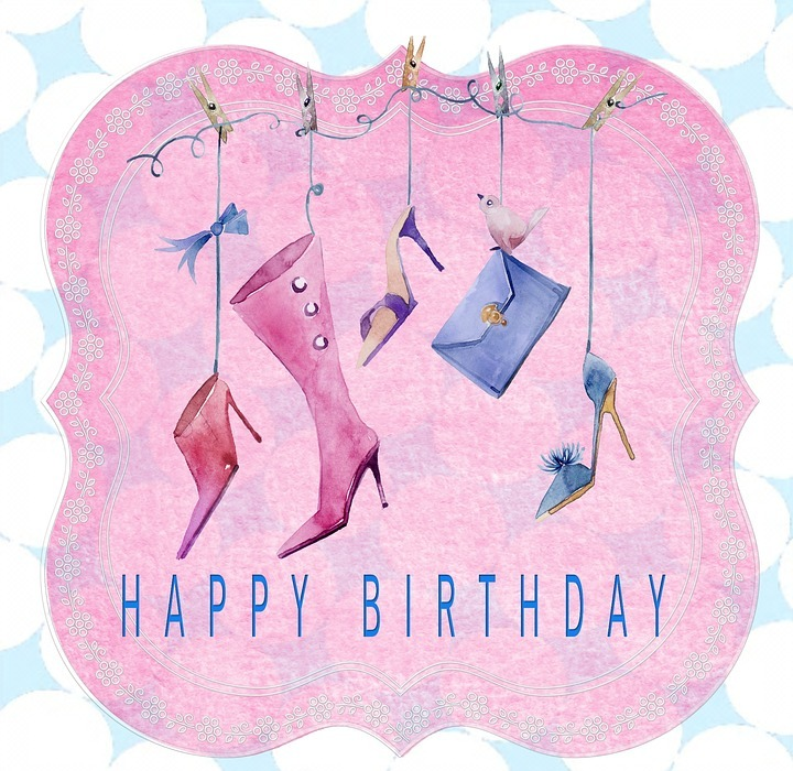 birthday card, happy birthday, lady
