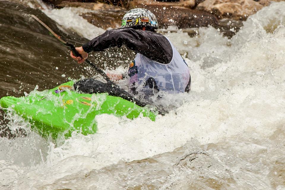 kayak, whitewater, action