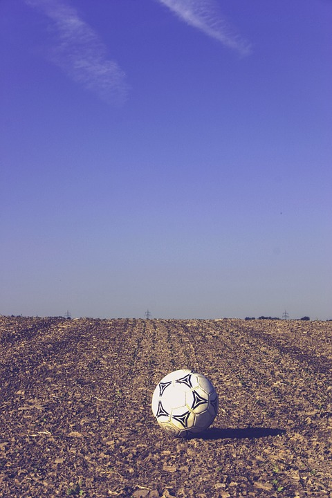 football, about, arable