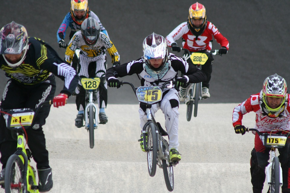 bmx, race, group