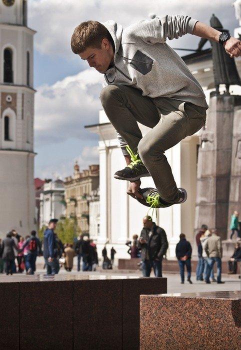 jump, parkour, sport