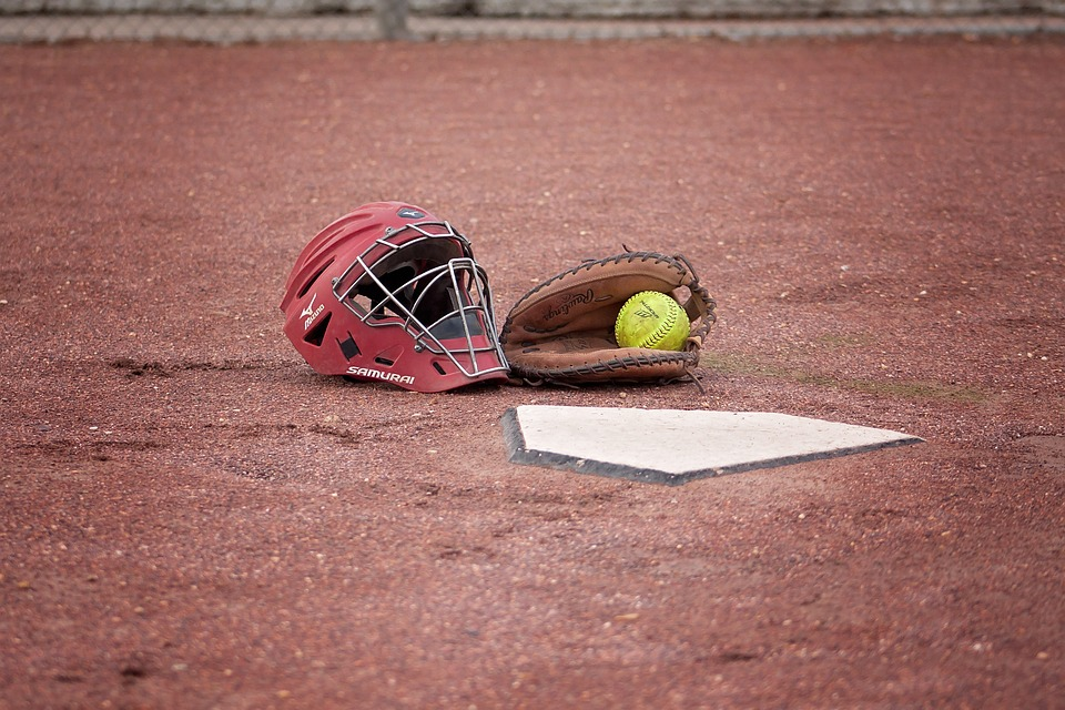 softball, catcher, ball