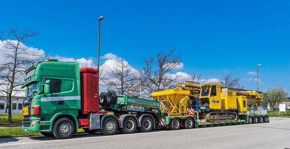 truck, transport, heavy transport
