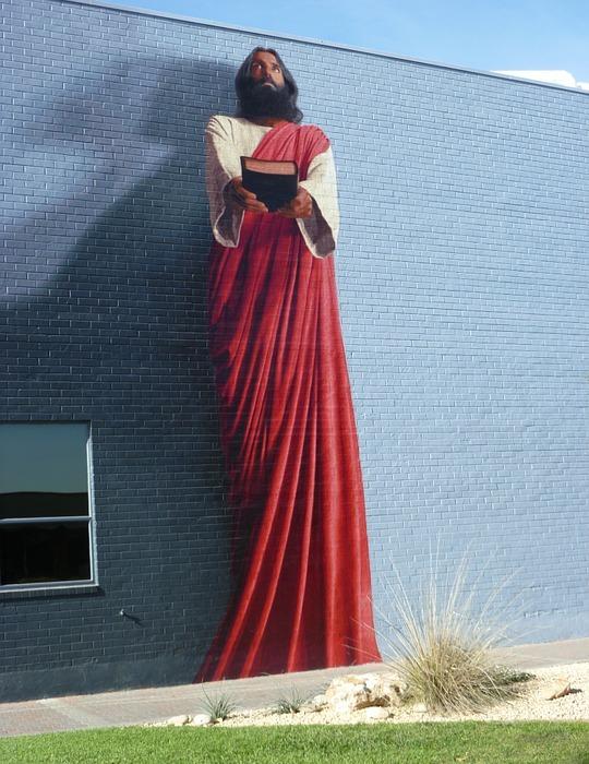 jesus, mural painting, bible