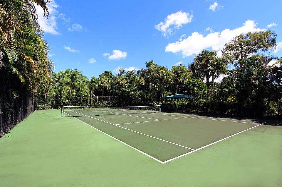 tennis, court, home