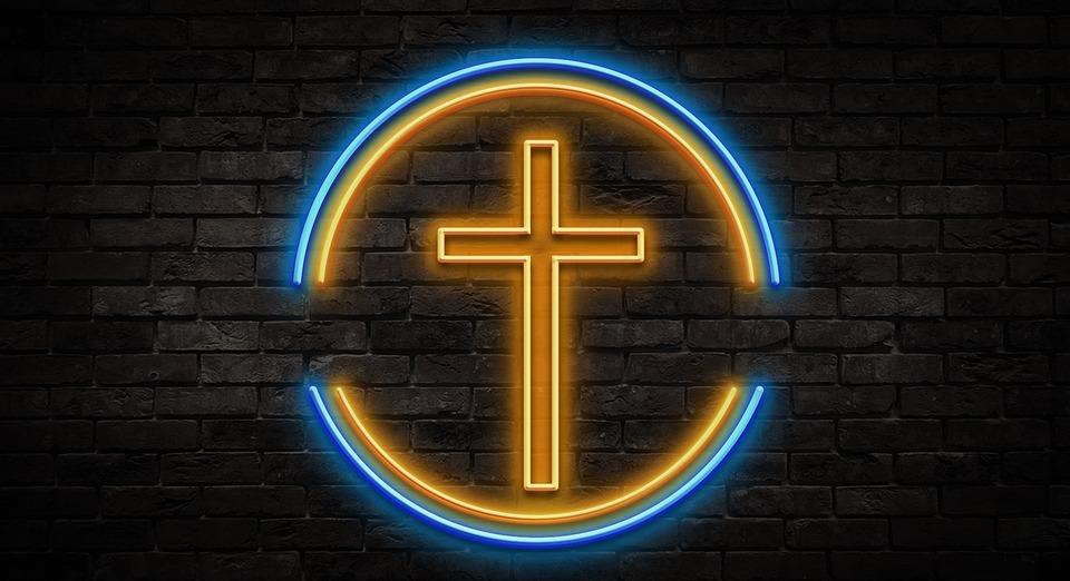 neon, sign, jesus