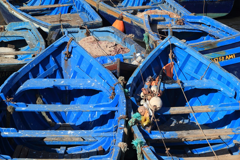 morocco, essaouira, fishing boats