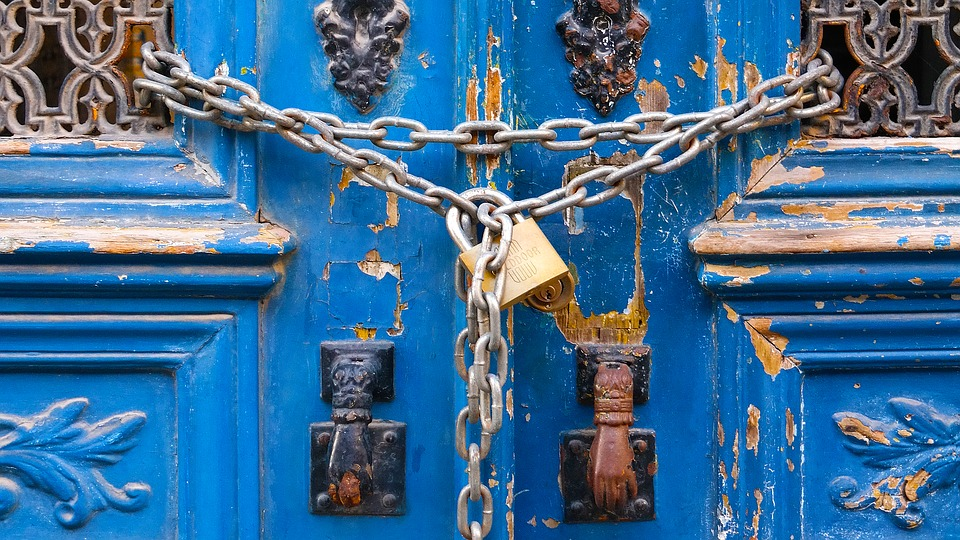 padlock, blue, dies