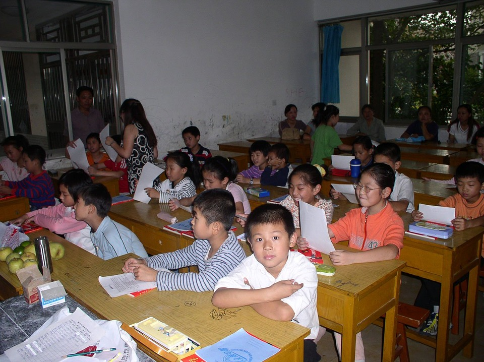 children, classroom, students