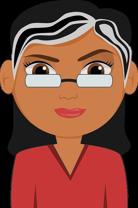 cartoon, glasses, teacher