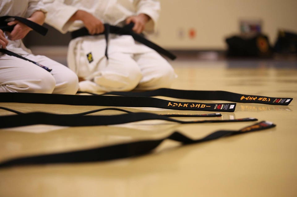 black belt, karate, traditional