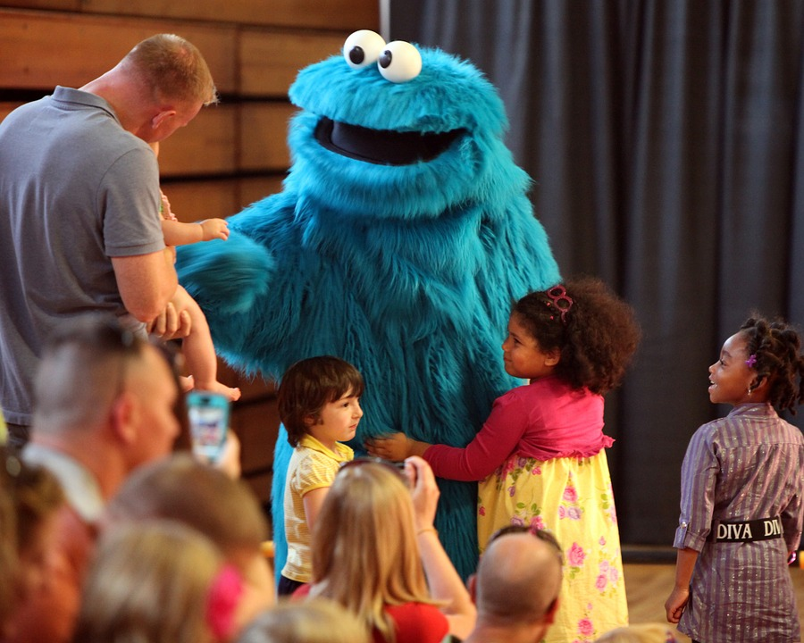 cookie monster, muppet, sesame street