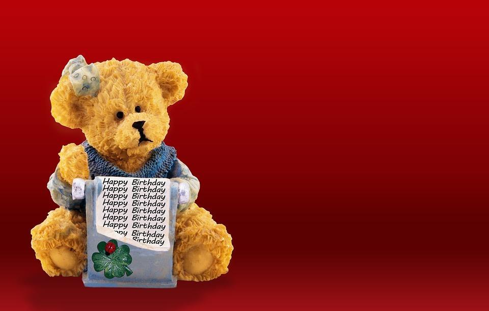 birthday card, bear, happy birthday