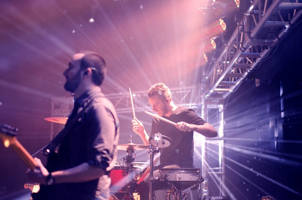 band, musicians, drummer