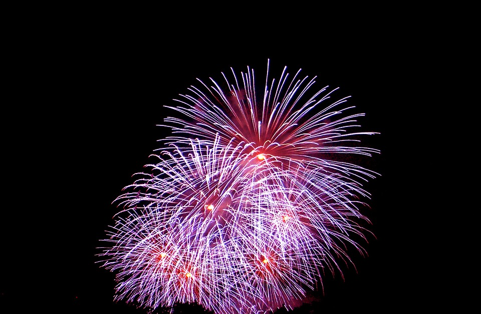fireworks, night, ad