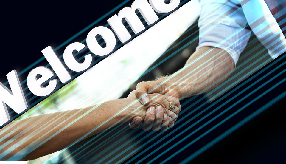 shaking hands, handshake, welcome