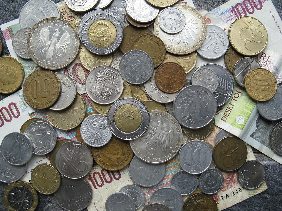 money, coins, paper money