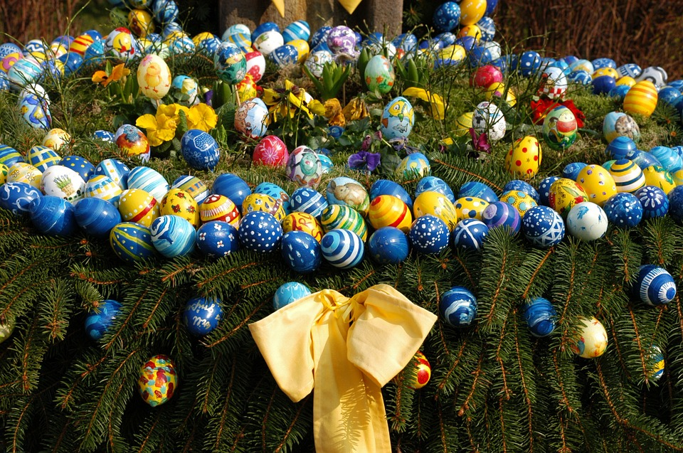 easter, easter greeting, easter nest