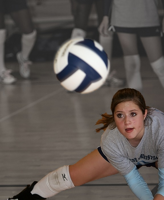 volleyball, volley, girl