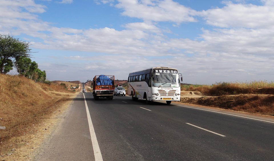 highway, road, bus
