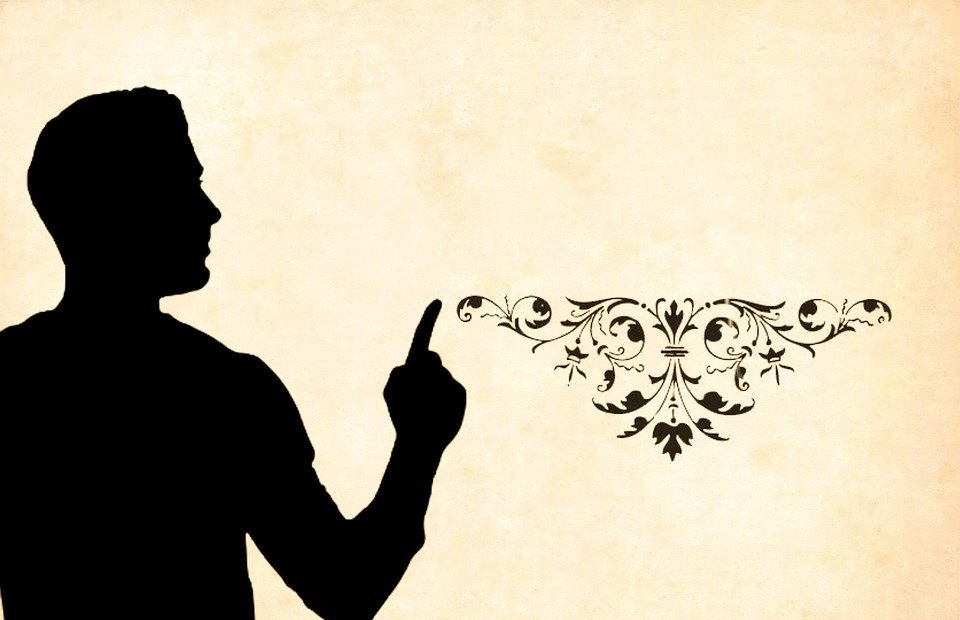 man, teacher, silhouette