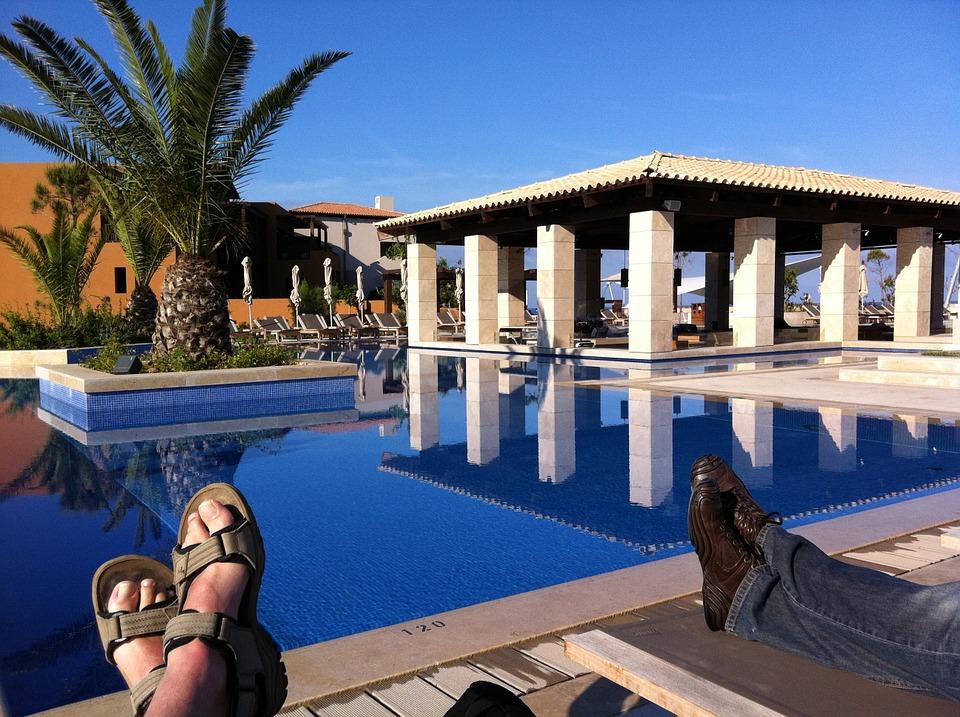 greece, pool, summer
