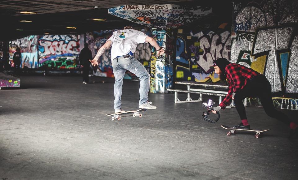 skateboard, skateboarding, graffiti