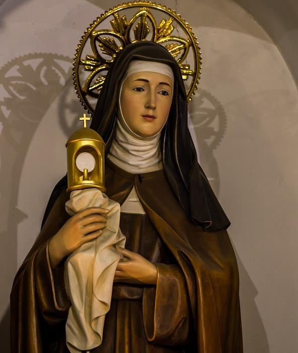 saint claire of assisi, catholic, saint