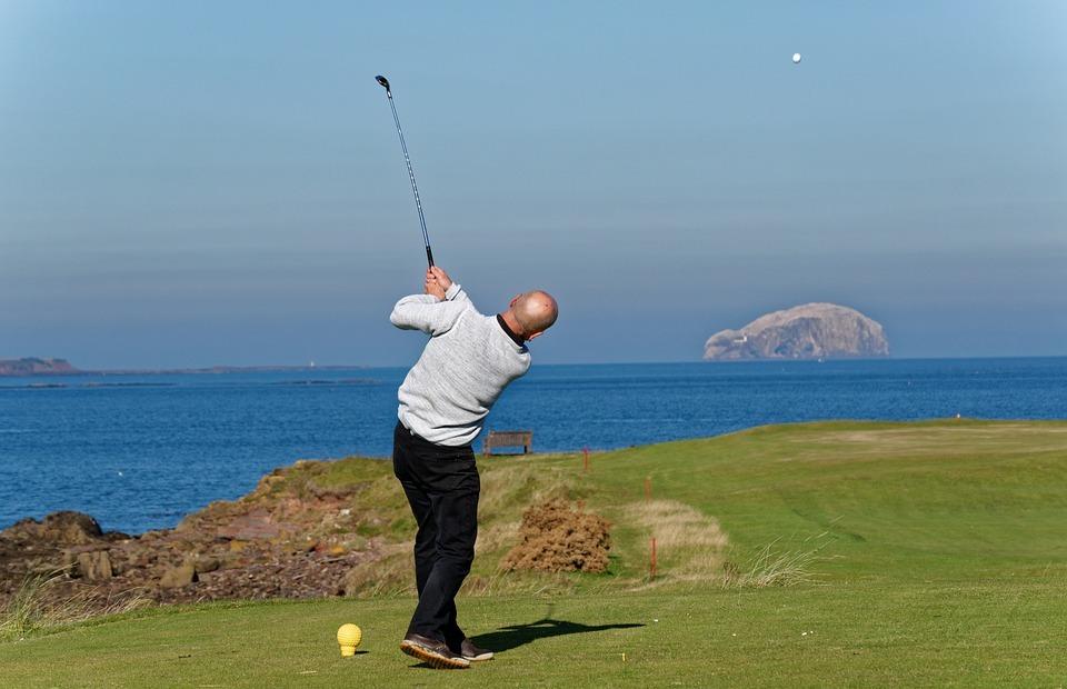 golf swing, golfer, swinging