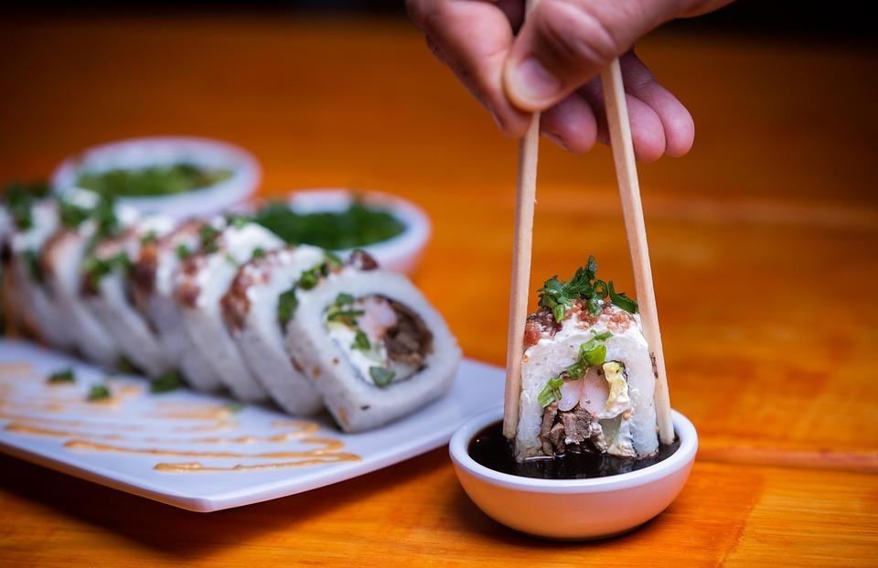 sushi, food, dish