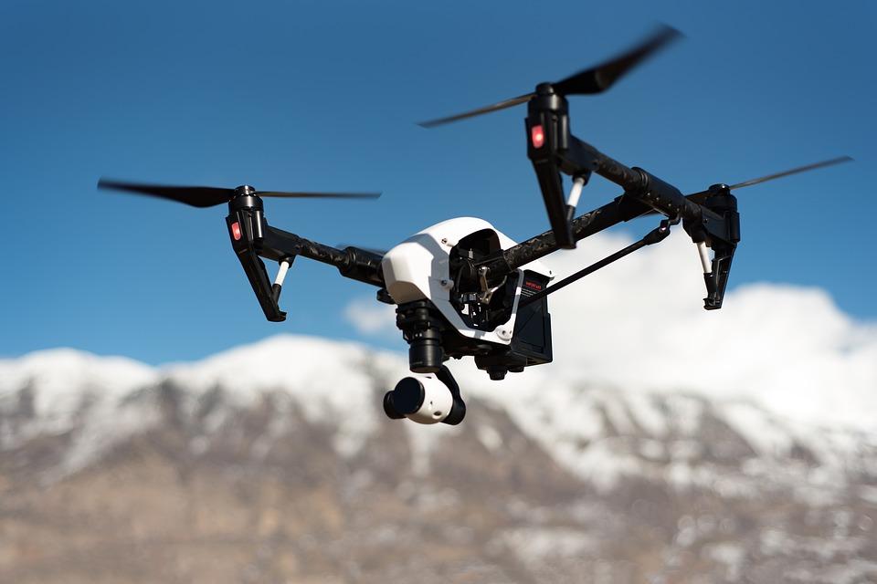 drone, sky, camera